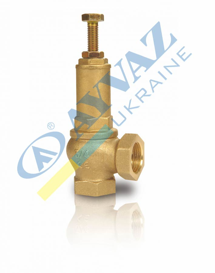 Клапан запобіжний муфтовий з регулюванням тиску SV-254