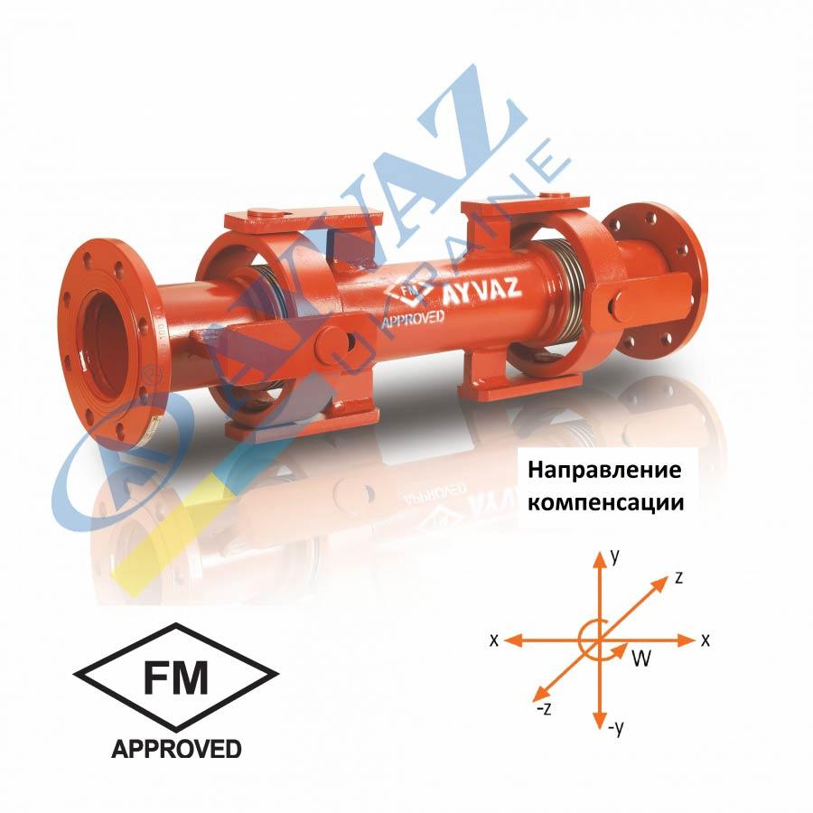 Сейсмический компенсатор с карданным шарниром SISKF-100 (фланцевый)