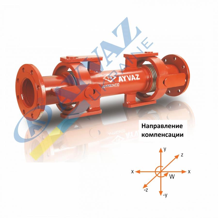 Компенсатор сейсмічний з карданним шарніром SİSKF-100 (фланцевий)