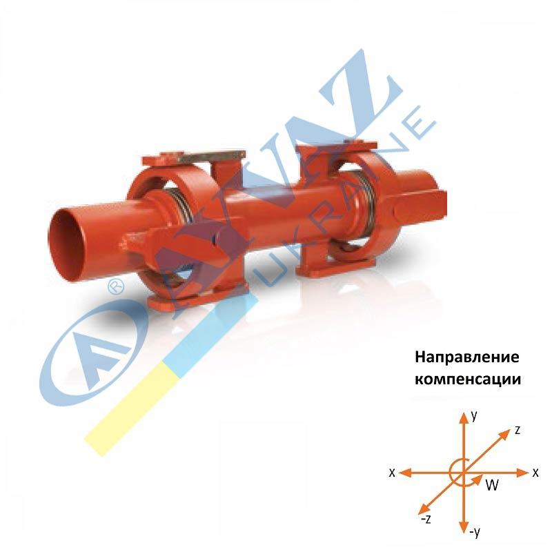 Компенсатор сейсмічний з карданним шарніром SİSKKB-100 (приварний)