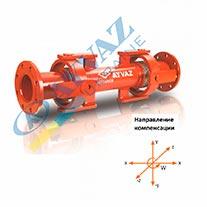 Компенсатор сейсмический с карданным шарниром SİSKF-100 (фланцевый)