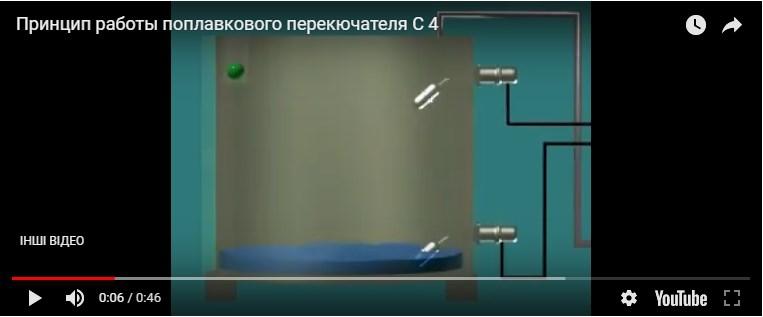 Поплавковий перемикач н/ж С-4