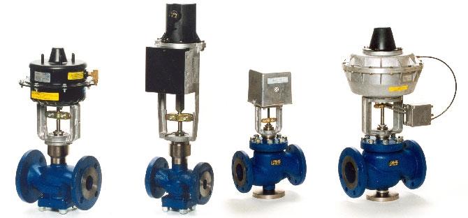 Регулюючі клапани з електроприводом