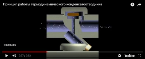 Видеообзор термодинамического конденсатоотводчика