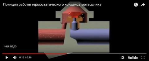 Видеообзор термостатического конденсатоотводчика