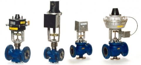 Клапаны регулирующие с электроприводом